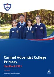 Download - Carmel Adventist College - Primary