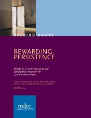 Rewarding Persistence: Effects of a Performance-Based ... - MDRC