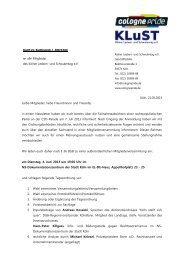 Einladung außerordentliche Mitgliederversammlung am 4. Juni 2013