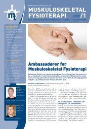 Muskuloskeletal Fysioterapi 2009 - 1 (pdf) - Fagforum for ...