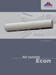 Air curtain - Stavoklima.cz