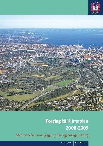Forslag til Klimaplan 2008-2009 - Velkommen til Århus Kommune