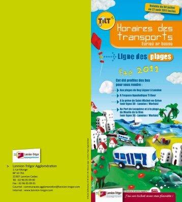Cet été profitez des bus pour vous rendre : Lannion-Trégor ...