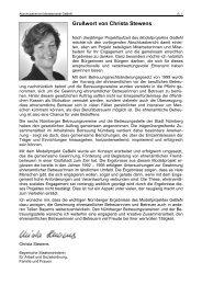 Grußwort von Christa Stewens - GeBeN - Gesetzliche ehrenamtliche ...