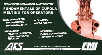 FUNDAMENTALS OF CUPOLA MELTING FOR OPERATORS