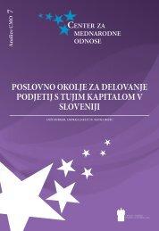 Poslovno okolje za delovanje Podjetij s tujiM kaPitaloM v sloveniji