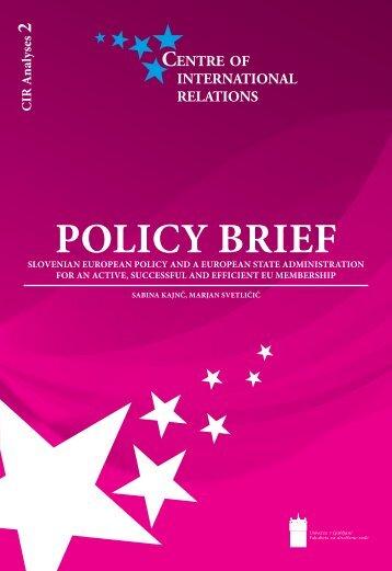POLICY BRIEF - Mednarodni odnosi