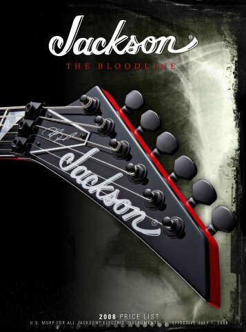 2008 Price List - Jackson® Guitars