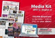 Media Kit 2013 / 2 • English - AdvantiPro GmbH
