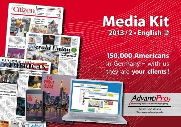 Media Kit 2013 / 2 • English - AdvantiPro GmbH