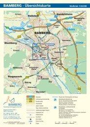 Maßstab 1:50.000 - Stadt Bamberg