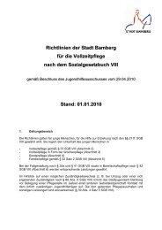 Richtlinien zur Vollzeitpflege - Stadt Bamberg