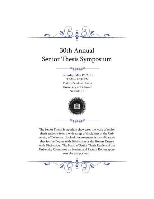 udel senior thesis symposium