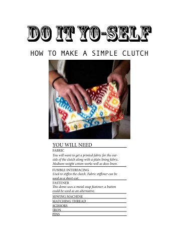 HOW TO MAKE A SIMPLE CLUTCH