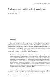 A dimensão política do jornalismo - Revista Comunicação e Cultura