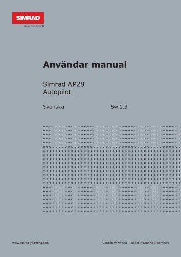 Användar manual - Simrad Professional Series - Simrad Yachting
