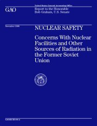 RCED-96-4 Nuclear Safety: Concerns with Nuclear ... - LegiStorm