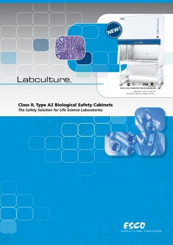 Class II, Type A2 Biological Safety Cabinets - Esco