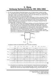 5. Übung Vorlesung Rechnerstrukturen WS 2001/2002