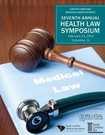 HEALTH LAW SYMPOSIUM - South Carolina Medical Association