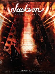 2009 Price List - Jackson® Guitars