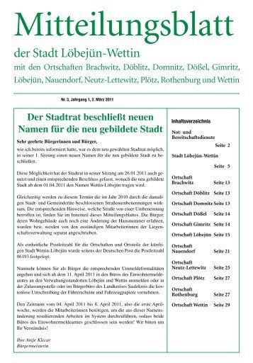 Mitteilungsblatt der Stadt Löbejün-Wettin - Stadt Wettin-Löbejün