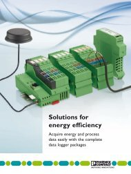 Solutions for energy efficiency - Phoenix Contact