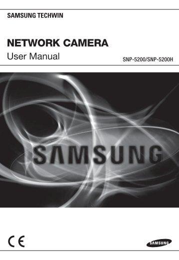 Samsung SNP-5200H Manual