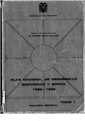 Plan nacional 1989 1992.pdf - Repositorio Digital IAEN