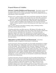 Proposed Measures & Variables: Outcome Variables Definition and ...