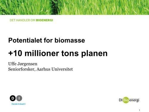 Uffe Jørgensen Aarhus Universitet (pdf) - Bioenergi