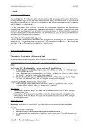 Thematischen Schwerpunkte Kunst für das Abitur 2011