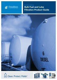Bulk Fuel and Lube Filtration Product Guide - Donaldson Toolbox