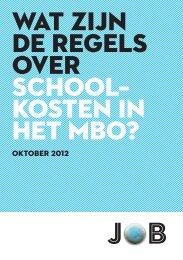 wat zijn de regels over schoolkosten in het mbo?