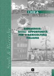 Bioenergie: quali opportunità per l'agricoltura italiana - Inea