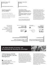 """""""The Wider Benefits of Learning"""" und die Ambivalenz der Messung ..."""