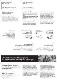 """The Wider Benefits of Learning"" und die Ambivalenz der Messung ..."