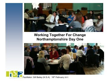 Northamptonshire County Council Working Together for Change ...