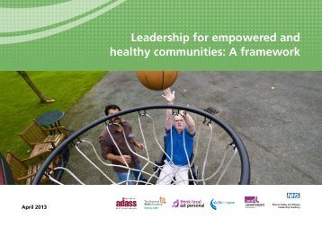 Leadership for empowered and healthy communities: A framework