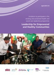 Leadership for Empowered and Healthy Communities