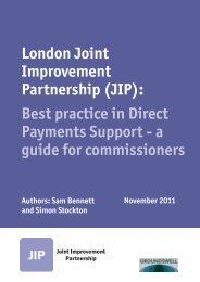 Best practice in Direct Payments Support – A ... - London Councils