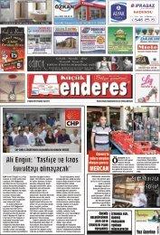 21 Ağustos Tarihli Küçükmenderes Gazetesi