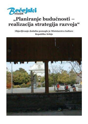 Planiranje budućnosti – realizacija strategija razvoja - Bečejski mozaik