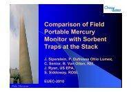 Comparison of Field Portable Mercury Monitor ... - Ohio Lumex Co.