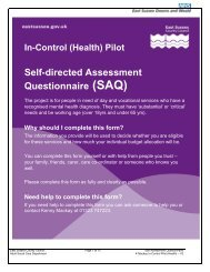 East Sussex Pilot SAQ; TASC Questionnaire (pdf - 512Kb)