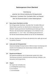 Statut Vereinbarung 03.11.2009 an alle Teilnehmer