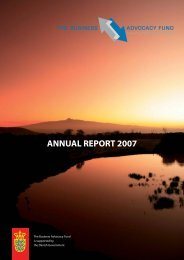 BAF annual report 2007 - Business Advocacy Fund
