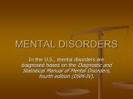 MENTAL DISORDERS - Aggie Horticulture