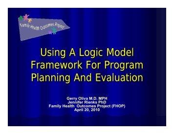 Using A Logic Model Framework For Program Planning And ... - FHOP
