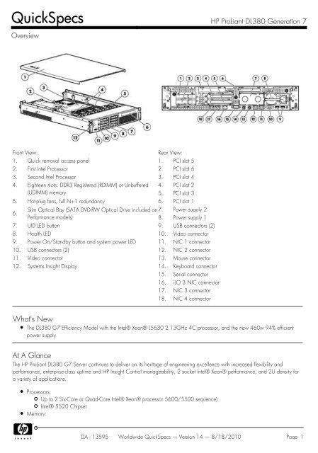 HP Proliant DL380 G7 SERVER 2x 6 CORE L5640 2.26GHz 72GB RAM 512MB BBWC NO HDD